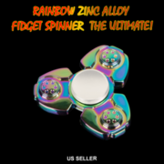 RAINBOW ZINK ALLOY Fidget HAND SPINNER The Ultimate! Can spin